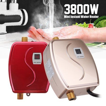 110v 3 8kw Instant Electric Tankless Water Heater Constant Temperature Safety Hot Water System Appliance For Kitchen Washing Faucet Bathroom Shower Heating Tool Tankless Hot Water Heater Water Heater Hot Water System