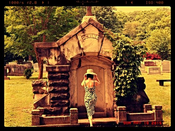 ...fixing my hat... Forest Hills Cemetary Chattanooga, Tennessee www.pennigoodeevans.artpickle.com