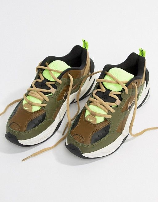 lace up in famous brand 100% top quality Nike Khaki M2K Tekno Trainers | Shoes | Trainers, Nike, Sneakers