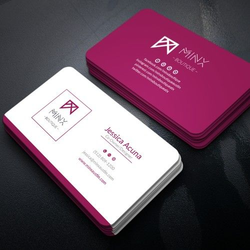 Business Card Design For Minx Boutique We Are An Online Boutique And Need A Business C Business Card Design Boutique Business Cards Business Card Design Simple