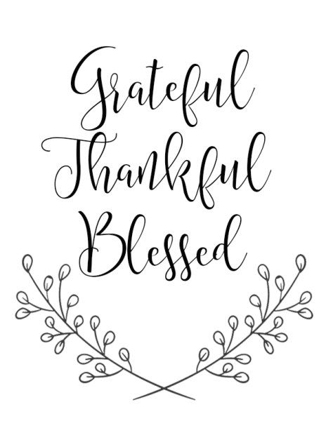 8 Free Fall Printables - Grateful Thankful Blesses