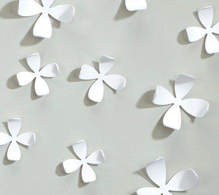 Wallflower Wall Decor in White