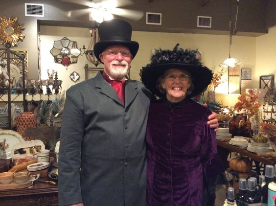 This lovely Victorian couple was visiting the shops during Dickens on Main.