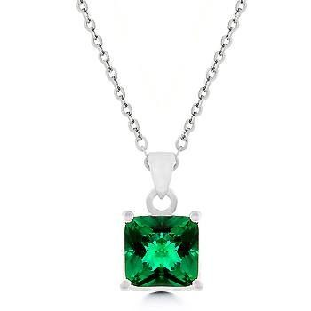 Gorgeous Emerald CZ Pendant Reverses to Diamond CZ Pendant in Rhodium  #DirectSales  #JewelryConsultant  #HomeParties