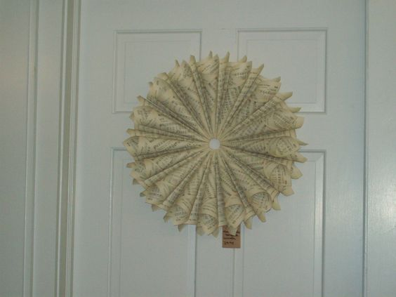 Wreath made from Hymns