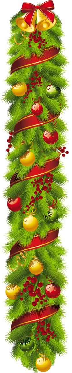Christmas vertical swag clip art