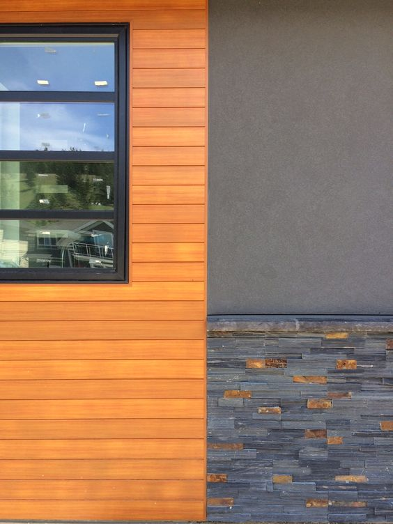 Modern home design by mdt homes kamloops bc with charcoal for Modern house siding solutions