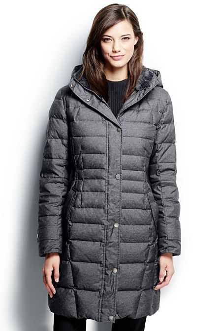 Fleece Lined Down Coat