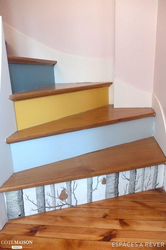 une marche de chaque couleur pour avoir un escalier. Black Bedroom Furniture Sets. Home Design Ideas