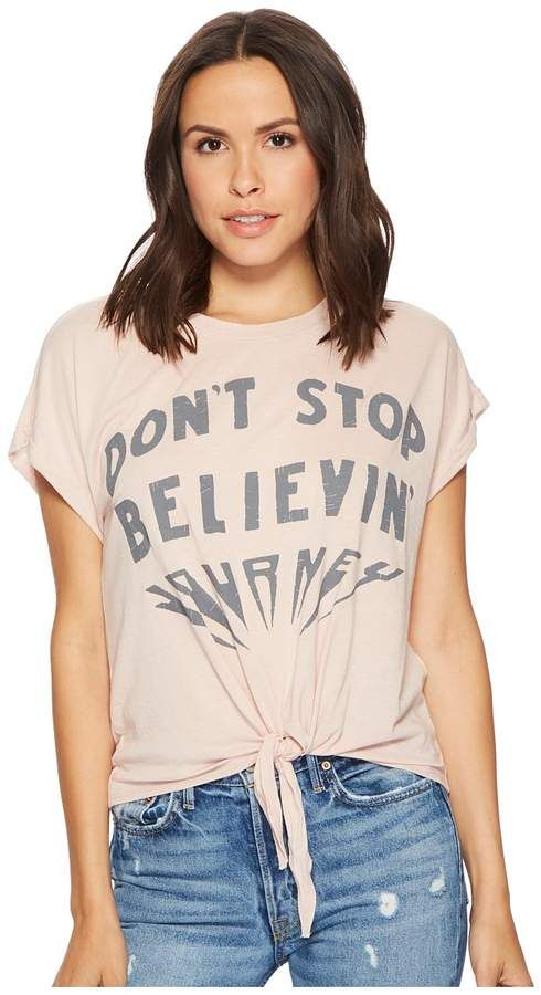 Don't Stop Believing Tee Women's T Shirt #trendy#graphic#cotton