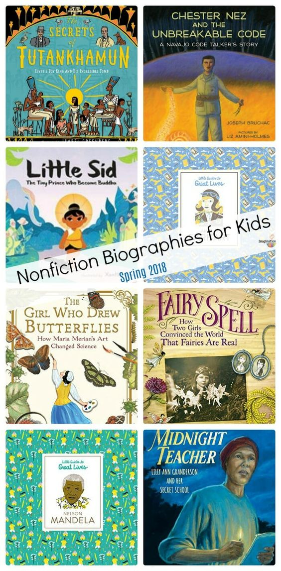 nonfiction children's book biographies (spring 2018)