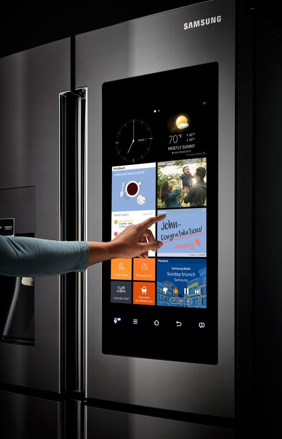 The future is now the heart of the 39 family hub 39 fridge is for Mirror for samsung tv