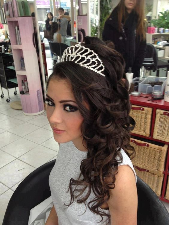 Astonishing Different Types Of Tiara Hairstyles And Tiaras On Pinterest Short Hairstyles Gunalazisus