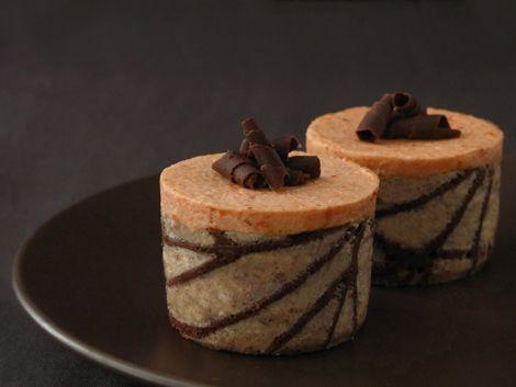 Pumpkin Caramel Mousse Cake - Click For Recipe