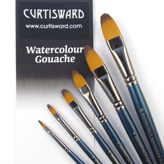 Curtisward Artist Value Profile Round Brushes For Watercolour Painting