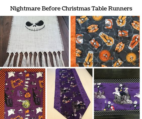 Nightmare Before Christmas Table Runners