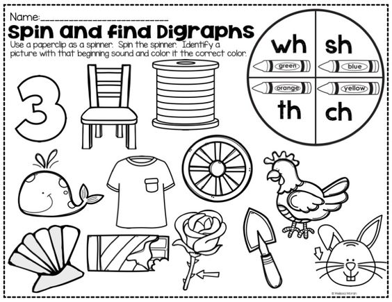 Printables Collect The Pictures That Begin Ch And Sh digraphs th ch wh and sh words activities searching digraph includes a week long