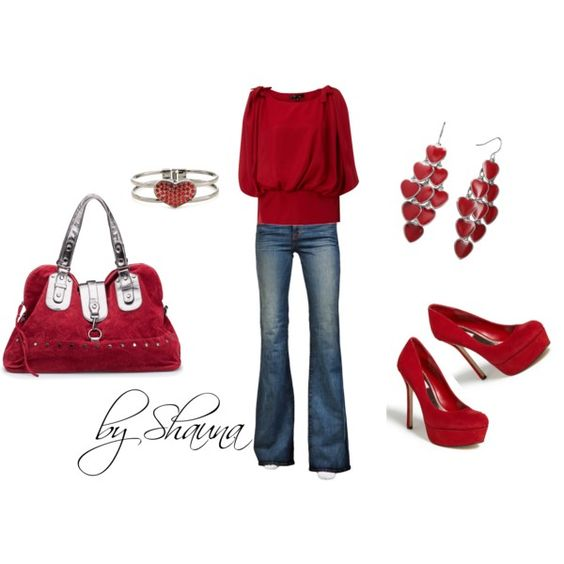 Love red but could do without the bracelet.