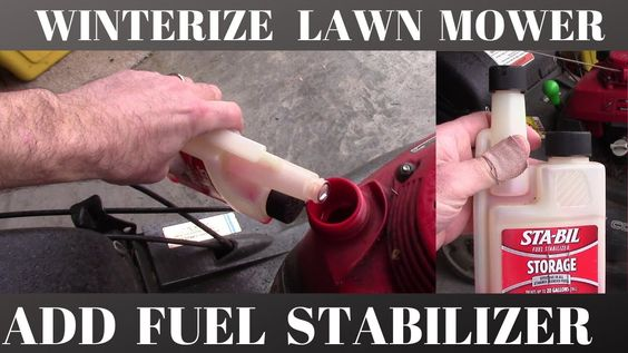 How To Winterize Your Lawn Mower With Fuel Stabilizer In 2020 Lawn Mower