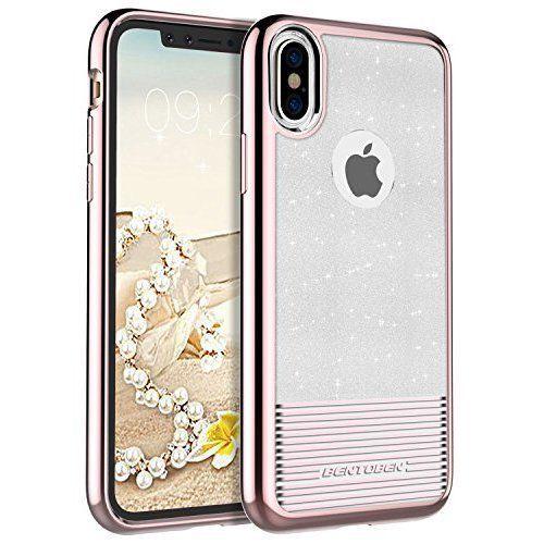 Elegant Women Girls Glitter Case Shockproof Bling Cover For Iphone X Rose Gold Girl Phone Cases Iphone Glitter Case