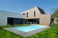 Maison contemporaine en L et son extension bois dans la région de Colmar,  #construiretendance