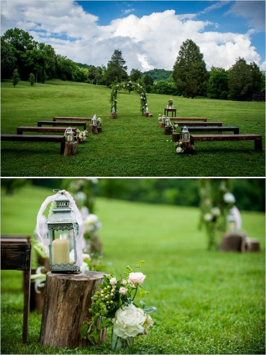 Shabby chic music themed wedding at cedarwood beautiful for Simple outdoor wedding ceremony ideas