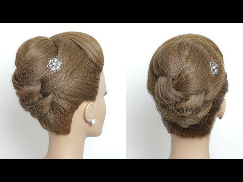 Perfect New Hairstyle For Long Medium Hair Juda Style Youtube Medium Hair Styles Long Hair Styles Wedding Hairstyles For Medium Hair
