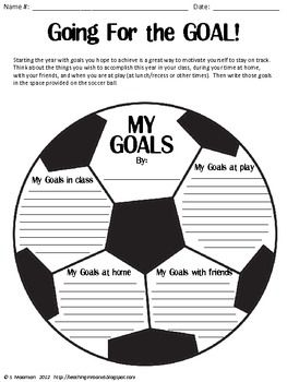 Goal setting pack (sports themed) with different writing ideas.  Perfect for Back to School
