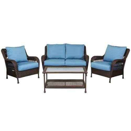 windward iris 4 pc wicker seating set