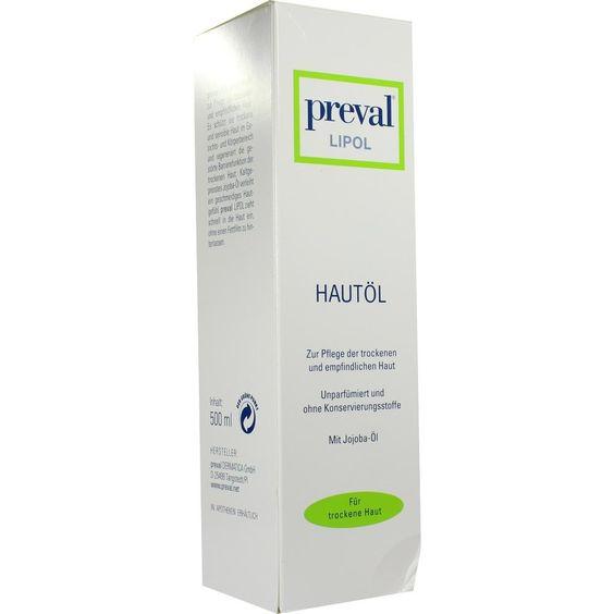 PREVAL Lipol Hautöl:   Packungsinhalt: 500 ml Öl PZN: 08753756 Hersteller: PREVAL Dermatica GmbH Preis: 18,48 EUR inkl. 19 % MwSt. zzgl.…