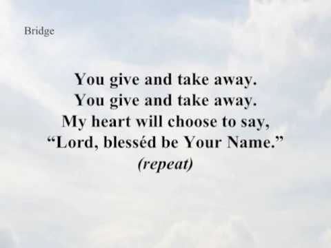 Blessed Be Your Name Written By Beth And Matt Redman Recorded