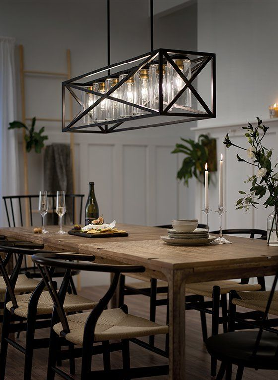 Modern Farmhouse Farmhouse Dining Room Lighting Modern