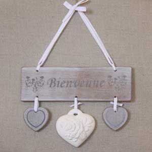 Messages d co and noms on pinterest for Decoration porte bienvenue