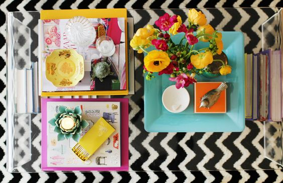 color pop coffee table