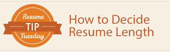 resume tip tuesday how to decide resume length resume cover