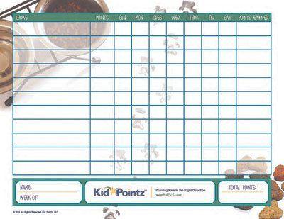 Chore Schedule   Printable Chore Chart   Kid Pointz