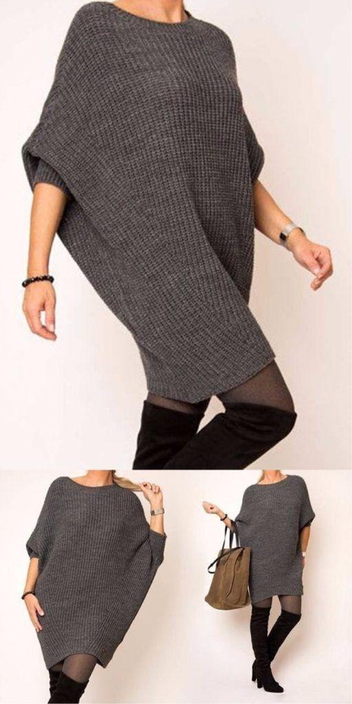 20 Simple Diy Knitting Ideas Knit Dress Pattern Poncho Knitting Patterns Knitting Designs