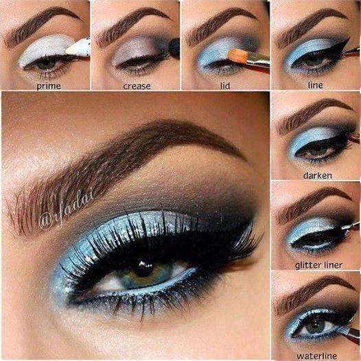 light blue smokey eye good eye makeup for latin and