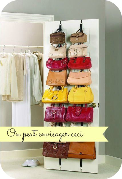 Organisation de sac main assaisonnement and rangements - Rangement sac a main dressing ...