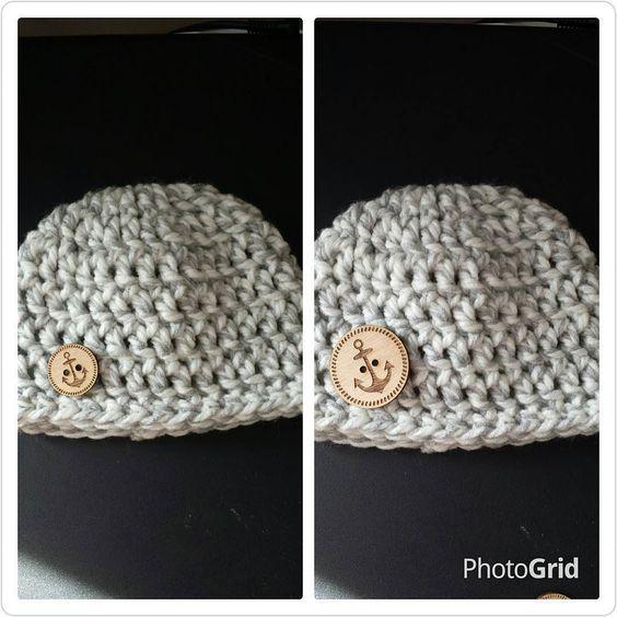 Ok Instagrammers little button or big button for this newborn hat??? #littleowlcrochet #littlevsbig #bigvslittle  #crochetersofinstagram #crochetofinstagram by littleowlcrochet