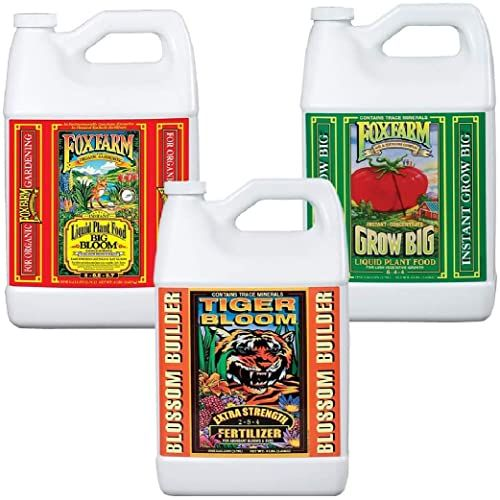 Enjoy Exclusive For Fox Farm Liquid Nutrient Trio Soil Formula Big Bloom Grow Big Tiger Bloom Pack 3 1 Gallon Bottles Bundled Twin Canaries Chart Pip In 2020 Big Blooms Gallon Pipettes