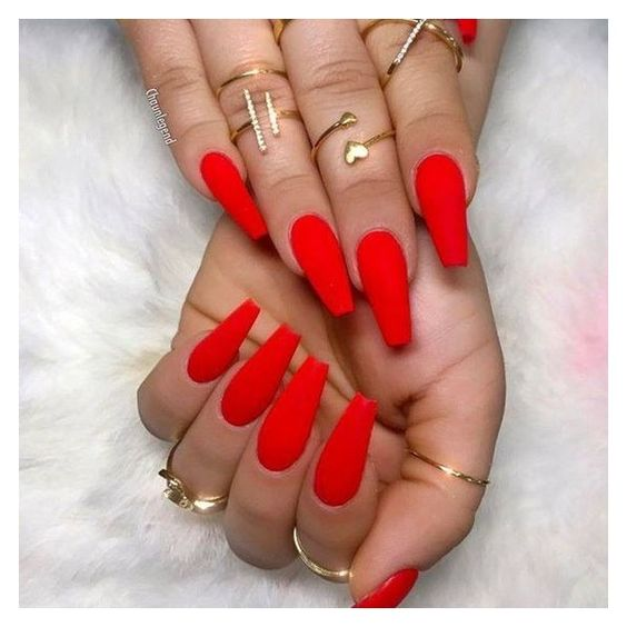 Coffin nails ❤ liked on Polyvore featuring beauty products and nail care