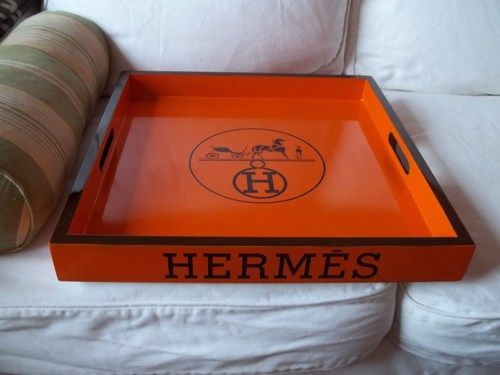 hermes wallets replica - Beautiful Hermes Paris orange and espresso brown square replica ...