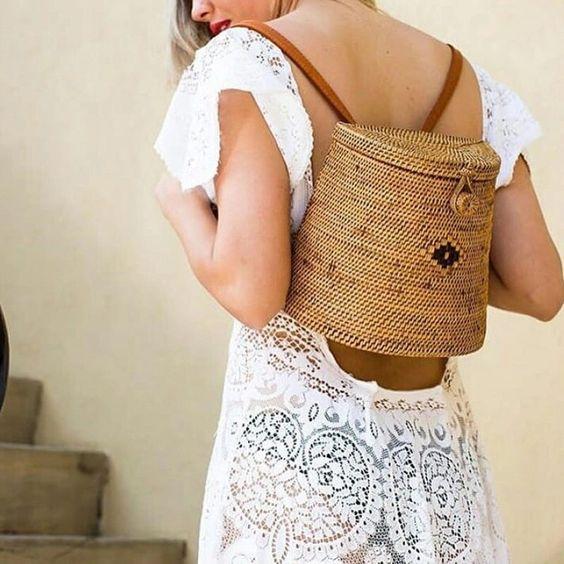 Bali rattan backpack / Sac à dos sac Bali