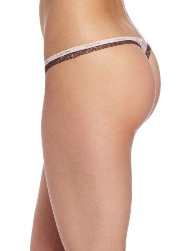 """Calvin Klein Women's Bottom Up Thong - Does the butt come with it?  I'd like two please, in size """"perky""""."""