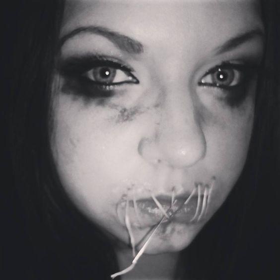 Mouth sewn shut bondage picture