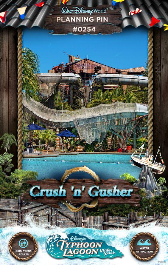 Walt Disney World Planning Pins: Crush 'n' Gusher