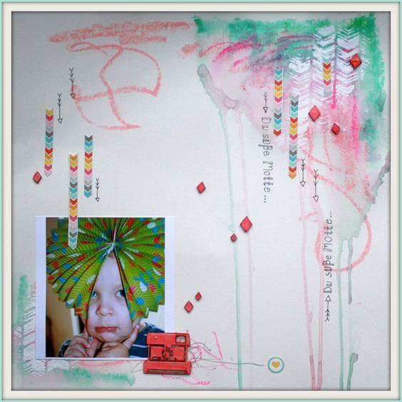 Layout von @Britta Haeusler für www.danipeuss.de | Faber Castell Gelatos