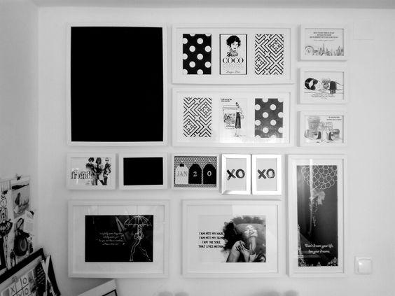 Composição de quadros, quadrinhos, parede, decoração, wall decor, poster, ideias, galeria