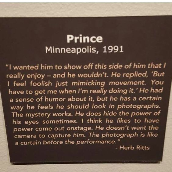 Famed photographer Herb Ritts talks about working with Prince. Ritts died in 2002 at the age of 50.